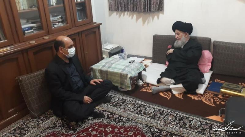 دیدار استاندار گلستان با مرجع عالیقدر آیت الله علوی گرگانی
