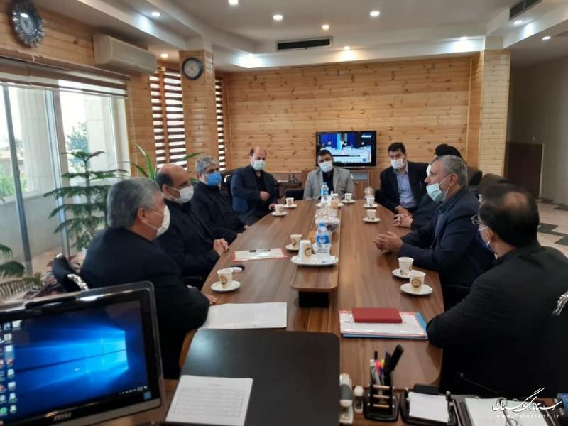 دیدار استاندار گلستان  با رئیس سازمان  اموال و املاک بنیاد مستضعفان