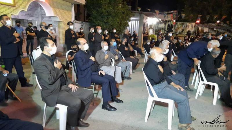 حضور استاندار گلستان در جمع عزاداران حسینی شهرستان علی آبادکتول