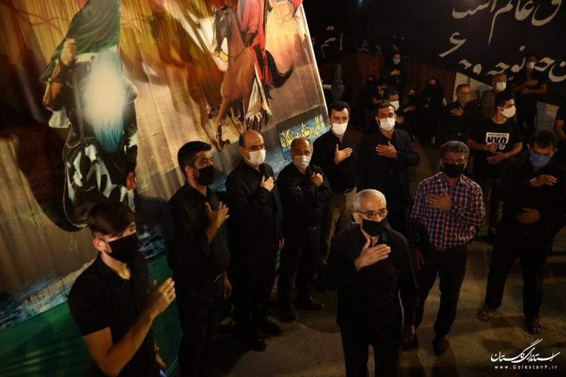 حضور استاندار گلستان در جمع عزاداران حسینی روستای مرزنکلاته شهرستان گرگان