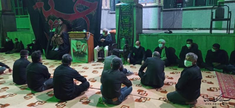 حضور استاندار گلستان در جمع عزاداران حسینی شهر دلند