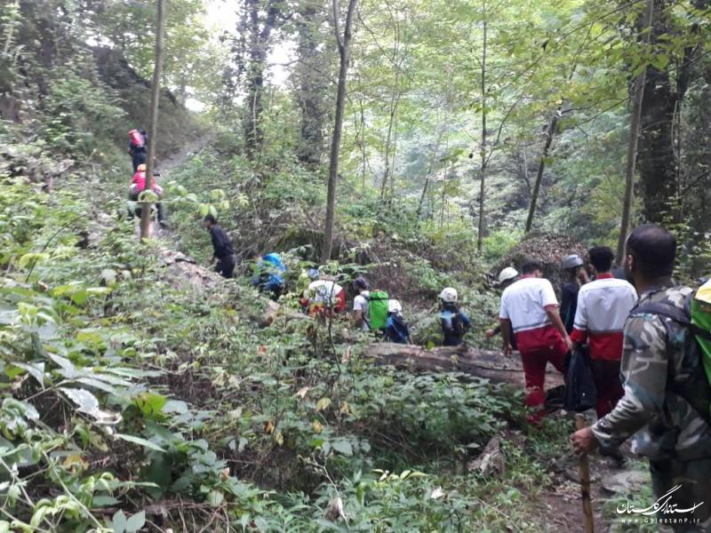 نجات ۹ گردشگر گمشده در جنگل بندرگز