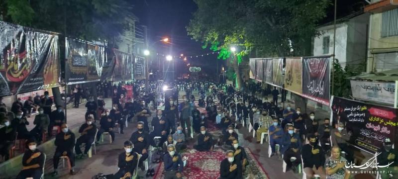 حضور استاندار گلستان در جمع عزاداران حسینی شهر رامیان