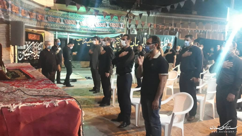 حضور استاندار گلستان در مراسم شام غریبان در امام زاده نور گرگان