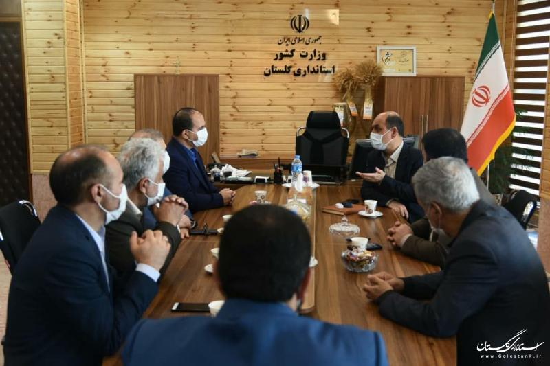 دیدار استاندار گلستان با معاون سازمان استاندارد کشور