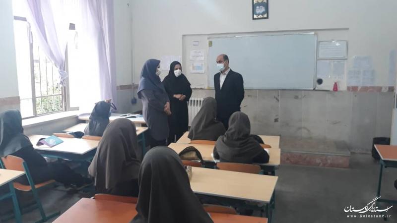 بازدید استاندار گلستان از مدارس گرگان