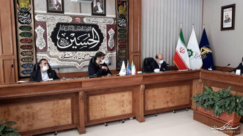 پیگیری مصوبات تفاهم نامه قرارگاه خاتم الانبیاء در استان گلستان