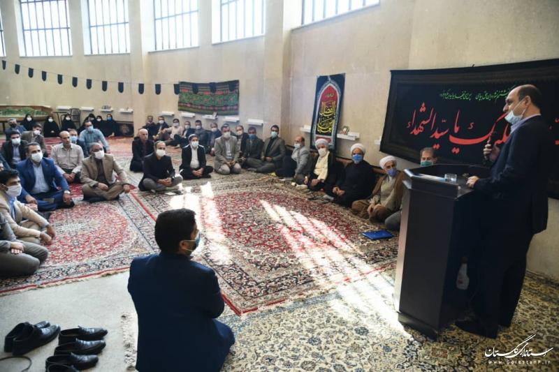 برگزاری مراسم گرامیداشت هفته دفاع مقدس با حضور استاندار گلستان در استانداری