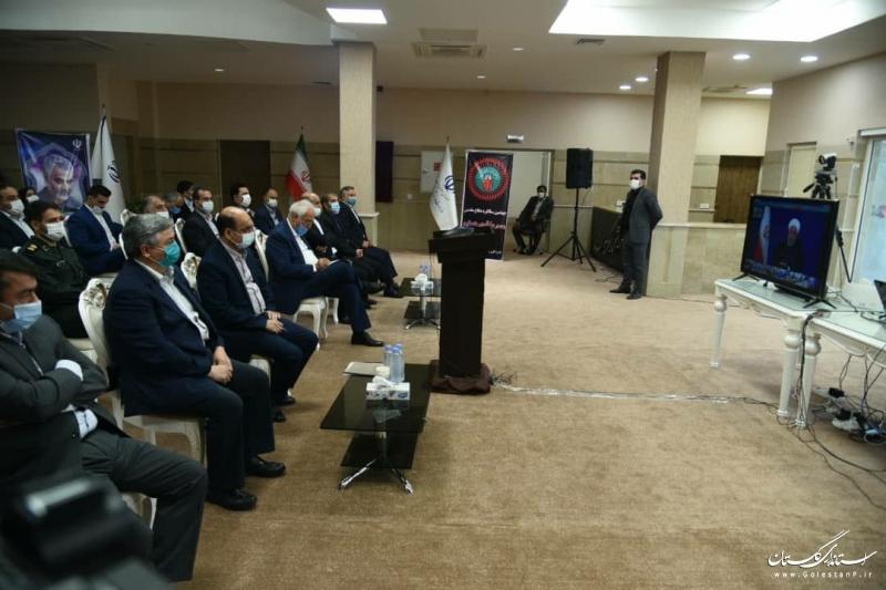 آیین افتتاح هتل ورزش گلستان بصورت ویدئو کنفرانس با رئیس جمهور برگزار شد