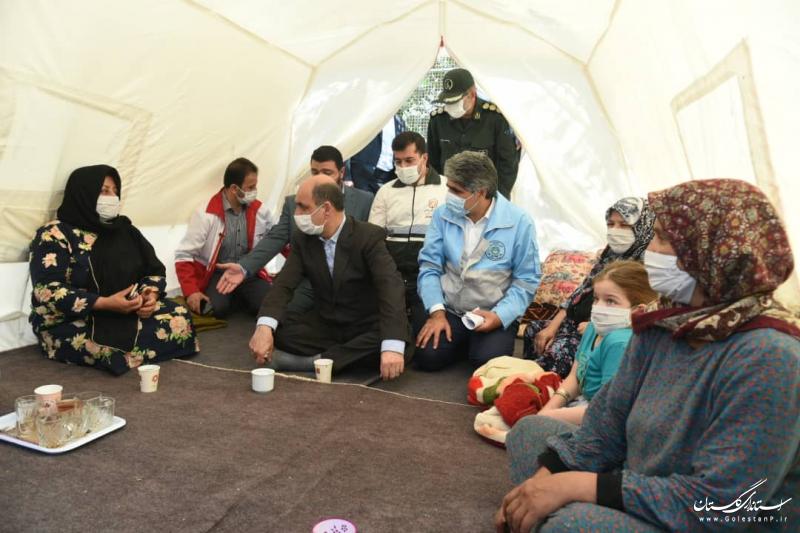 بازدید استاندار گلستان از روستاهای زلزلهزده رامیان