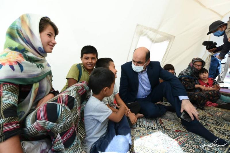 بازدید استاندار گلستان از مناطق زلزله زده مراوه تپه