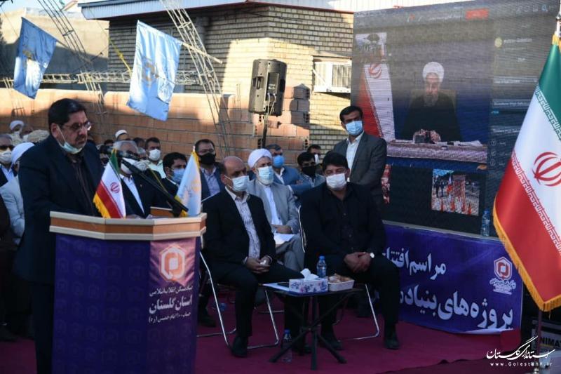 جشن پایان بازسازی مناطق سیل زده کشور به میزبانی گلستان برگزار شد