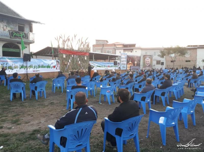 حضور استاندار گلستان در مراسم یاواره شهدای روستای قرن آباد گرگان