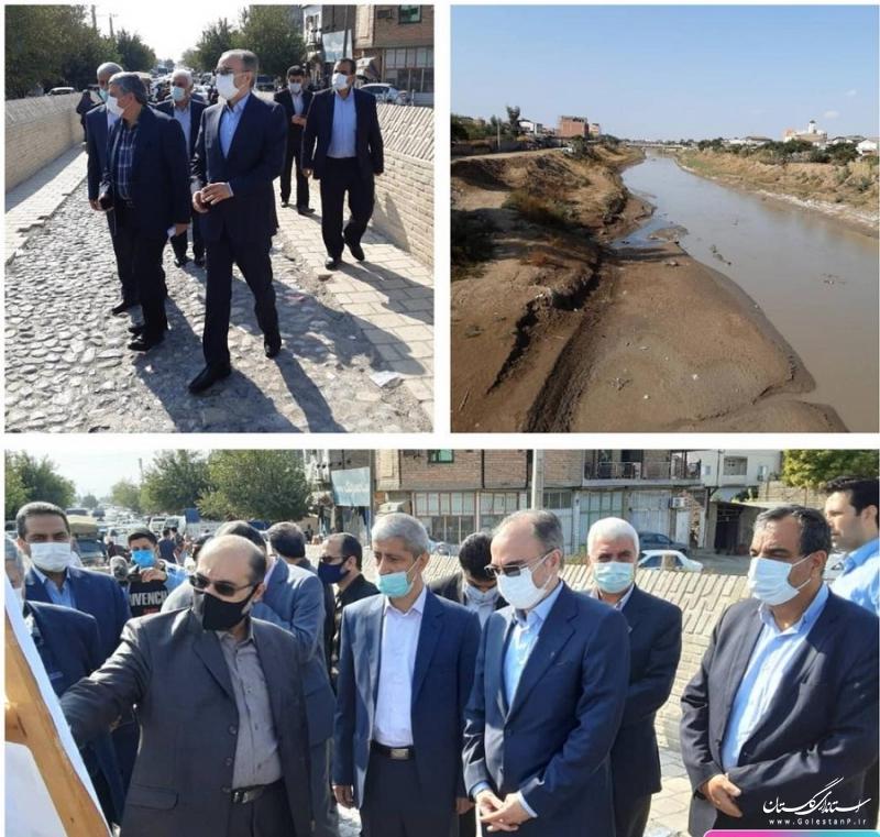 بازدید معاون وزیر نیرو از لایروبی های شهرستان آق قلا/ اجرای 228 کیلومتر لایروبی رودخانه ها در گلستان