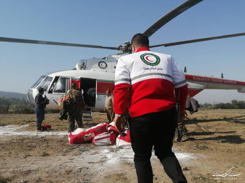 اعزام نیروی امدادی و عملیاتی هلالاحمر گلستان به منطقه آتشسوزی محور توسکستان به شاهرود