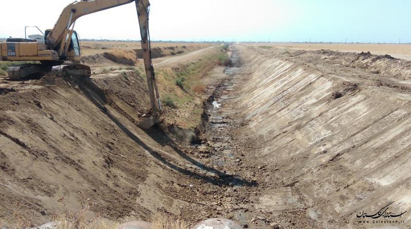 اجرای 32 کیلومتر عملیات لایروبی وزهکشی اراضی اولویت دار در محدوده شهرستان کردکوی