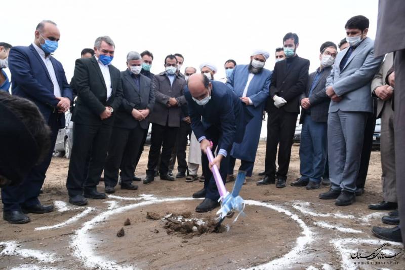 عملیات اجرایی احداث پارک روستای چنارلی با حضور استاندار گلستان آغاز شد