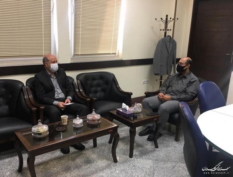 دیدار  مسئول سازمان بسیج سازندگی سپاه نینوا استان با مدیر عامل شرکت آب منطقه ای گلستان