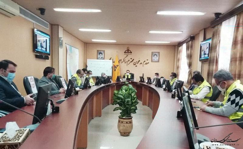 با حضور مدیرکل مدیریت بحران استان گلستان انجام شد: مانور لحظه صفر افت فشار گاز در شرکت گاز استان گلستان