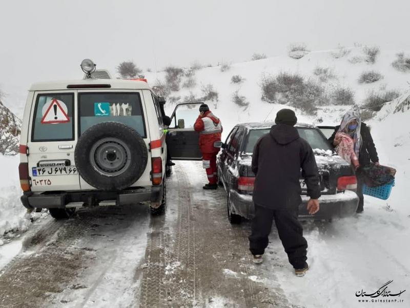 امدادرسانی به 494 نفر در طرح امداد و نجات زمستانه هلال احمر گلستان