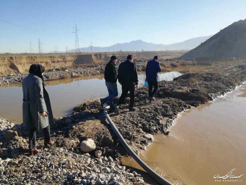 پلمب یک سنگ شکن  و صدور 3 اخطار قضایی در شهرستان گرگان به دلیل تخلیه پساب در رودخانه