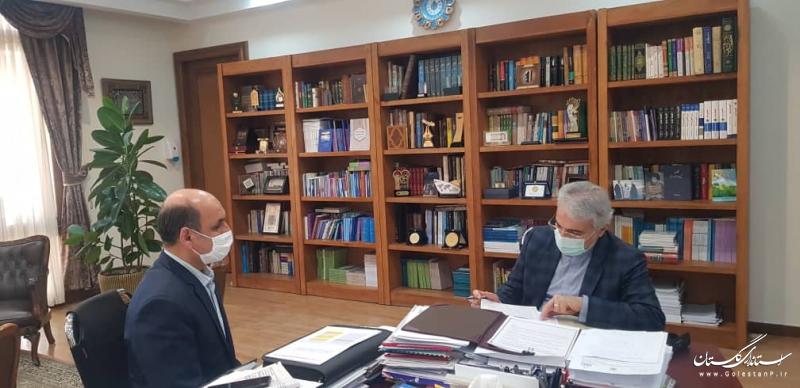 دیدار استاندار گلستان با رئیس سازمان برنامه و بودجه