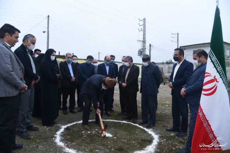 آغاز عملیات اجرایی مدرسه 6 کلاسه میرداماد در محله انجیراب گرگان