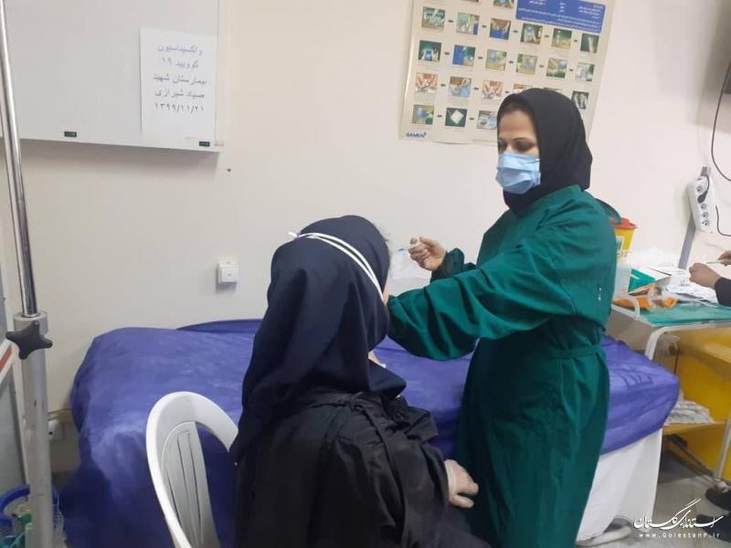آغاز مرحله دوم تزریق واکسن کرونا به کادر درمان در گلستان