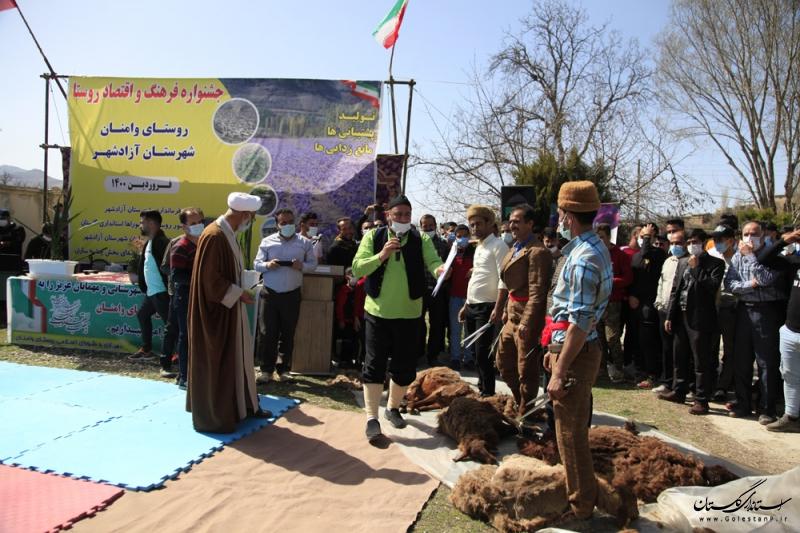 برگزاری جشنواره نوروزی در روستای وامنان شهرستان آزادشهر
