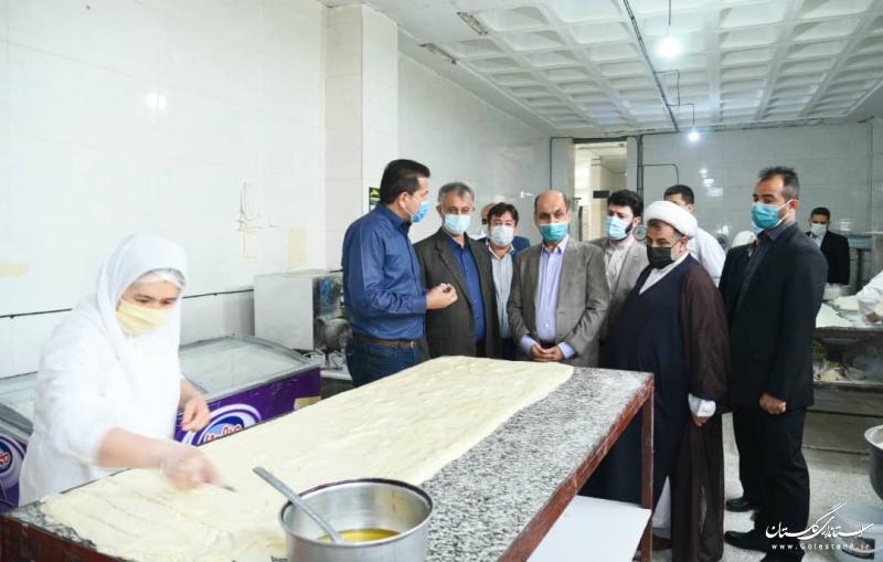 بازدید استاندار گلستان از آزمایشگاه همکار استاندارد صفای کوثر در شهرستان گنبد کاووس