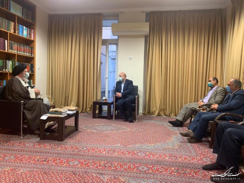 سفر غیر رسمی رییس مجلس به گلستان و دیدار با گروه های جهادی
