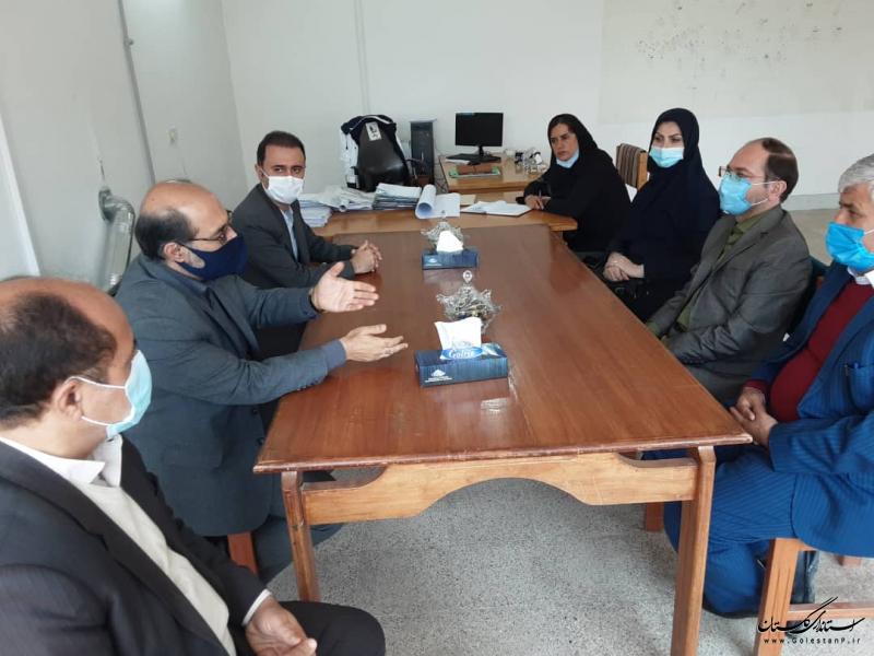 بازدید مدیر عامل شرکت آب منطقه ای استان از اداره منابع آب مینودشت و گالیکش
