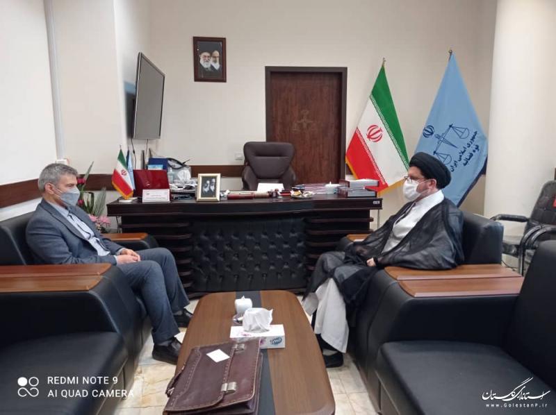 دیدار مدیرکل منابع طبیعی و آبخیزداری استان گلستان با دادستان مرکز گلستان