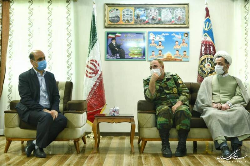 دیدار استاندار گلستان با ارشد نظامی آجا در استان