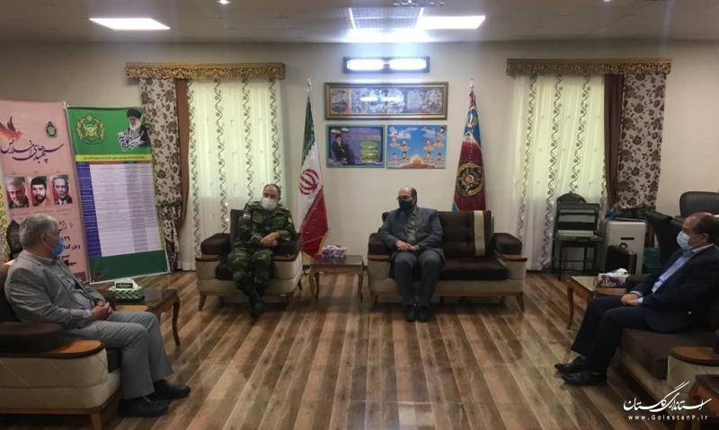 دیدار مدیر عامل شرکت آب منطقه ای استان با فرمانده ارشد نظامی آجا در گلستان