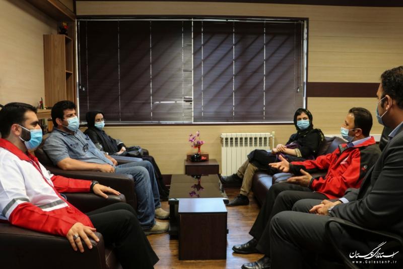 مشارکت هلال احمر گلستان و موسسه خادمین امام علی بن ابی طالب برای خدمت به نیازمندان