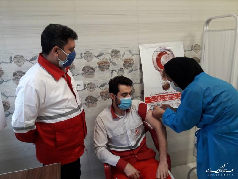 آغاز واکسیناسیون امدادگران و نجاتگران هلال احمر گلستان