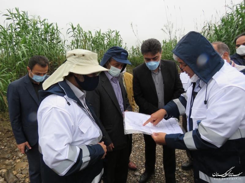 بازدید مدیرعامل شرکت آب منطقه ای گلستان از طرح آبرسانی به رامیان و آزادشهر