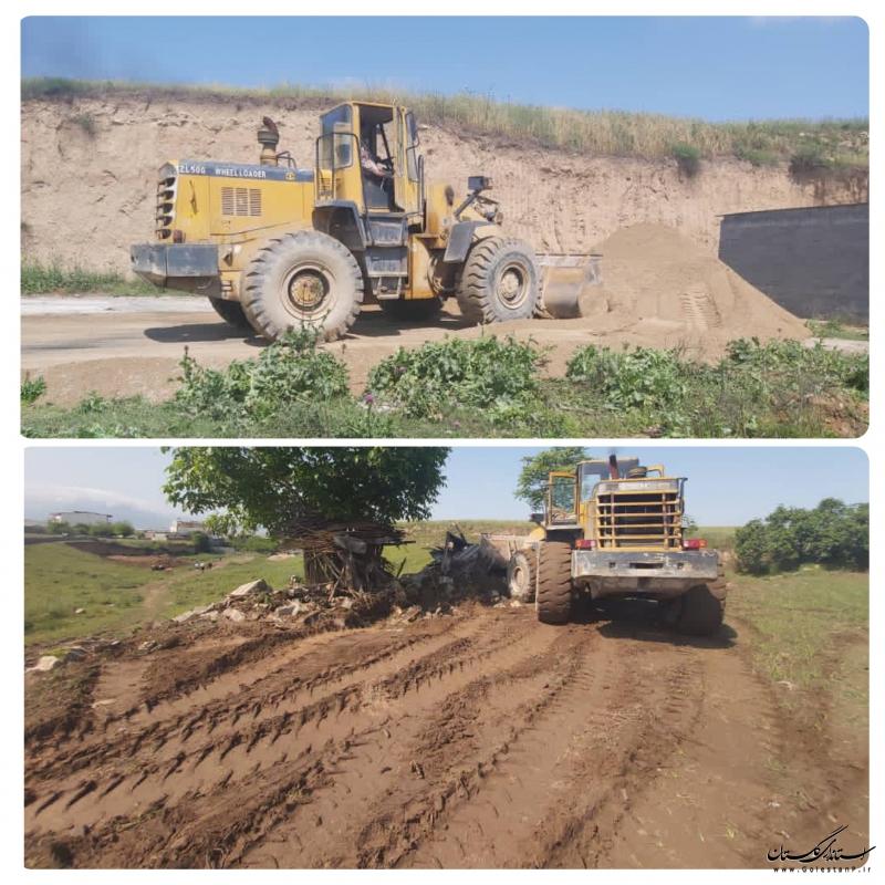 مقابله با رودخانه خواری و آزادسازی ۳۷۰۰ مترمربع از بستر فعال مسیلهای اجی یلی_قوجمز کلاله