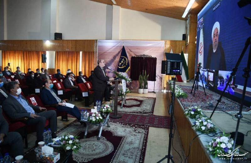 آیین افتتاح پروژه زهکشی اراضی استان گلستان طی وبینار با رییس جمهور برگزار شد