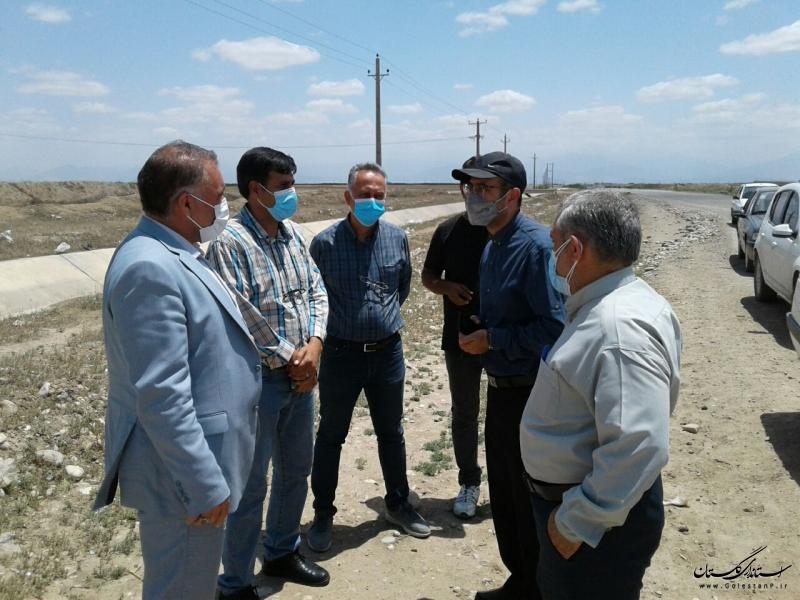 بازدید مدیرکل راه و شهرسازی گلستان از پروژههای عمرانی گنبد کاووس