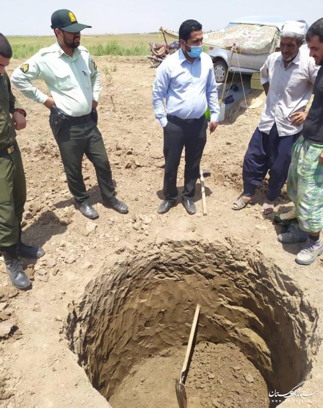 جلوگیری از حفر چاه غیر مجاز در شهرستان آق قلا / شناسایی 14 چاه غیر مجاز طی سال جاری
