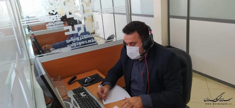 مدیرکل تعاون، کار و رفاه اجتماعی استان گلستان در مرکز پاسخگویی سامد حضور یافت