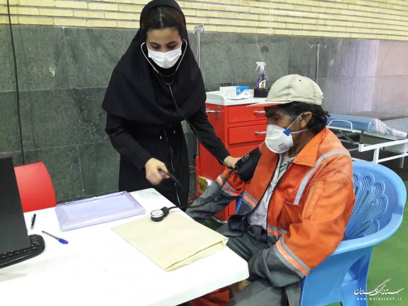 پایان واکسیناسیون پاکبانان شهرداری گرگان در فاز اول