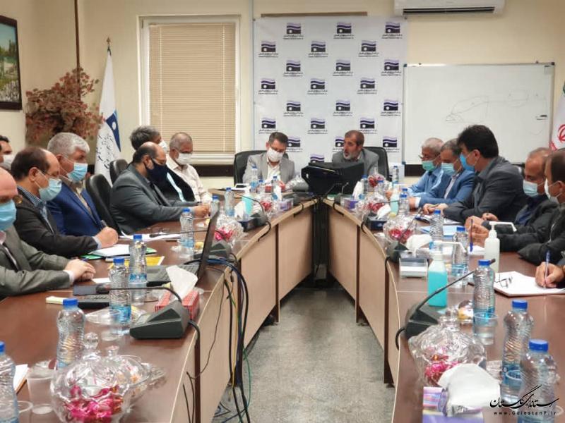 جلسه مجمع نمایندگان و مدیران گلستان در جلسه بررسی مشکلات آب شرب استان