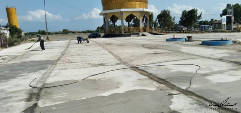 اتمام فاز اول محوطهسازی گلزار شهدای گمنام ساحل بندرگز