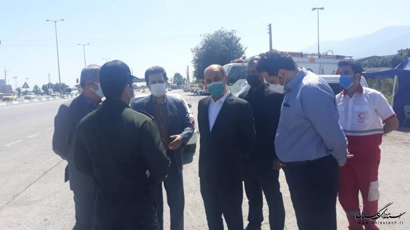 بازدید استاندار گلستان از بیمارستان های غرب استان