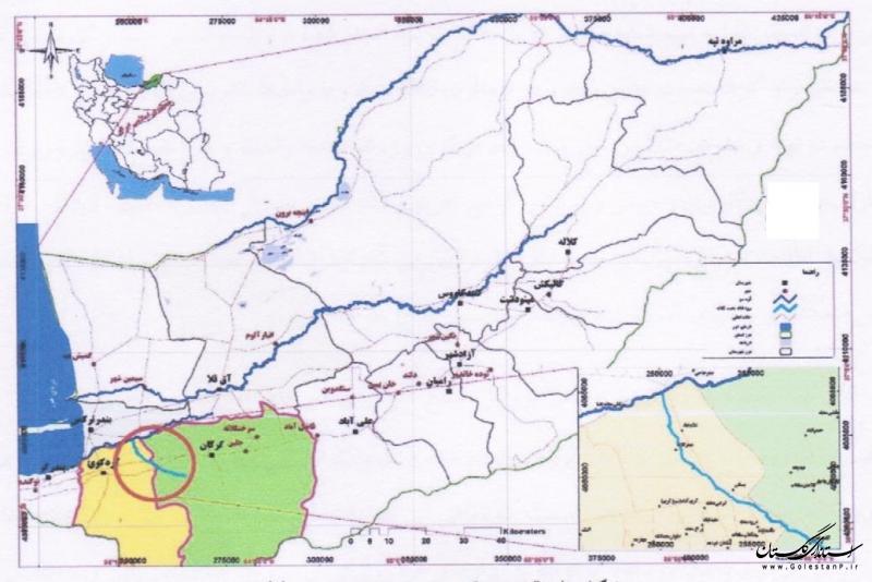 بررسی و تایید مطالعات موردی تعیین حد بستر و حریم چند رودخانه در حوضه های قره سو و گرگانرود