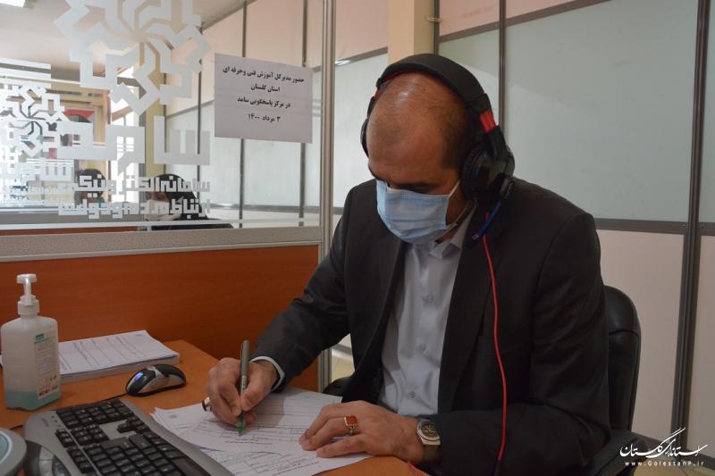 مدیرکل آموزش فنی و حرفه ای استان گلستان در مرکز پاسخگویی سامد حضور یافت