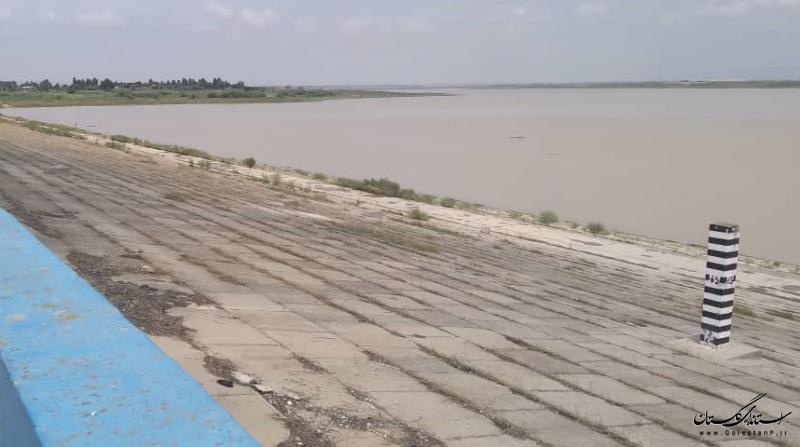 باران تابستانه ۳ میلیون مترمکعب، معادل ۷ درصد ظرفیت سد گلستان آب وارد این سد کرد